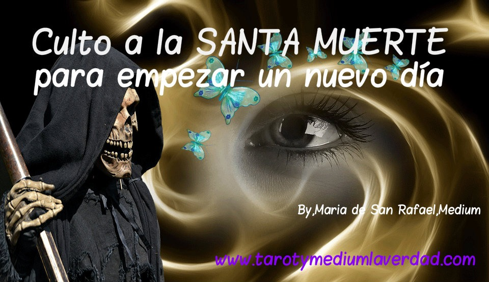 Cult to Santa Muerte to start a new day